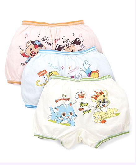 Bodycare Printed Bloomers Pack Of 3 (Color And Print May Vary)