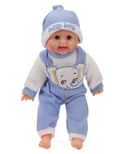 Smiles Creation Laughing Doll Dark Blue - 36 cm