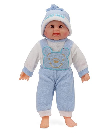 Smiles Creation Laughing Doll Light Blue - 36 cm