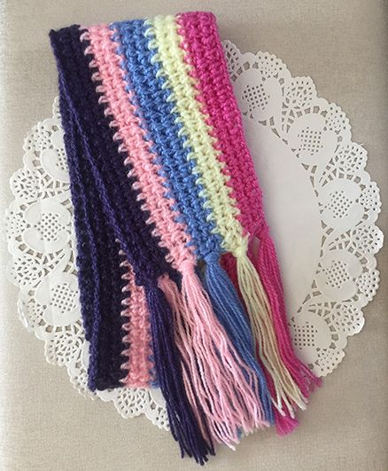 Buttercup From Knittingnani Rainbow Scarf - Multi-Coloured