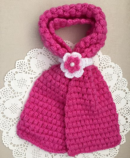Buttercup From Knittingnani Bobble Scarf - Rose Pink