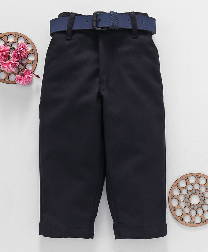 Robo Fry Trousers With Belt - Navy Blue