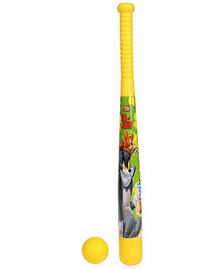 Tom And Jerry Baseball Bat And Ball - Yellow