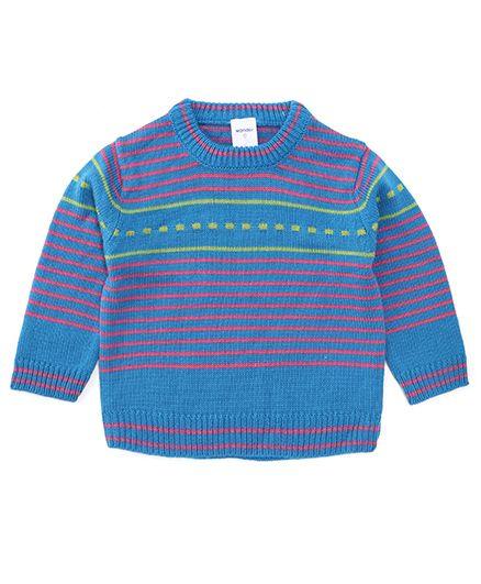 Wonderchild Pull Over Striped Cardigan - Blue