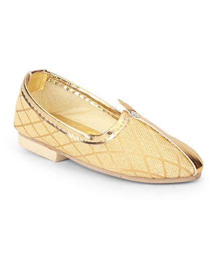 Ethniks Neu Ron Traditional Mojari Shoes - Fawn