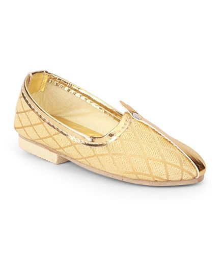 Ethniks Neu Ron Traditional Mojari Shoes - Fawn