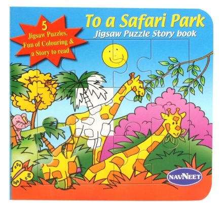 Navneet To A Safari Park Jigsaw Puzzle Story Book