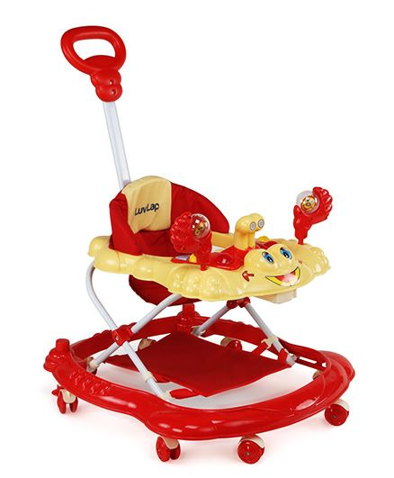 Luv Lap Sunshine Musical Baby Walker - Red