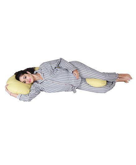 Lula Mom Maternity C Shape Body Pillow - Yellow