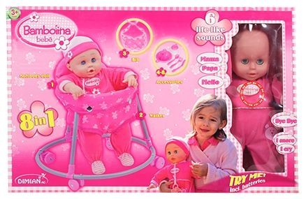 Toy Triangle - Bambolina Bebe Walker Set