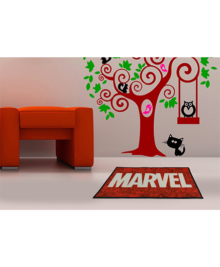 Spaces Marvel Comics Cotton Bath Mat - Red