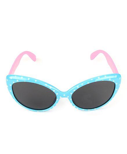 Kids Cat Eyes Sunglasses Dots Print - Pink Blue