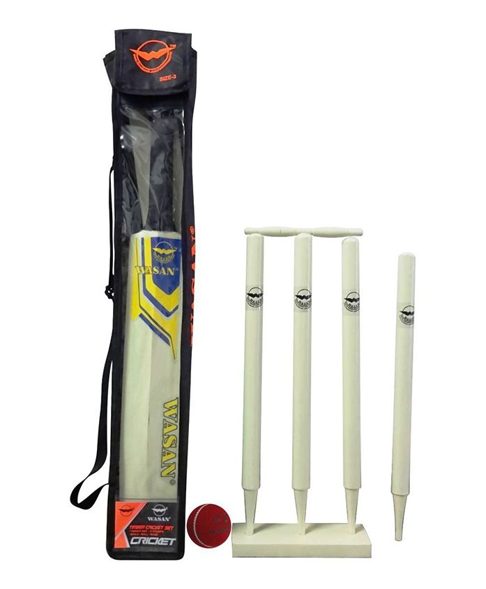 Wasan Cricket Set Yellow - Size 3