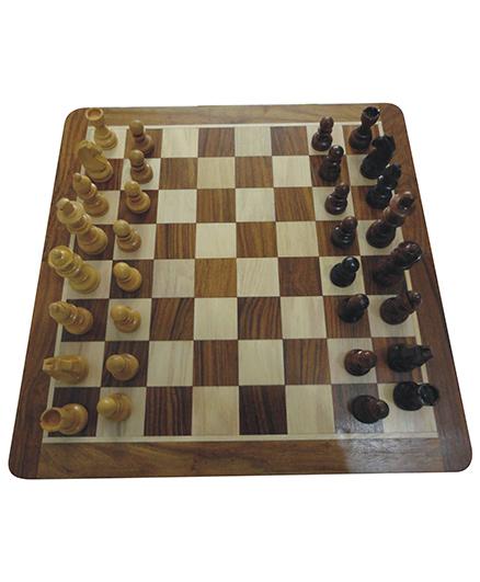 Wasan Chopra Magnetic Chess Board Game - Brown Cream