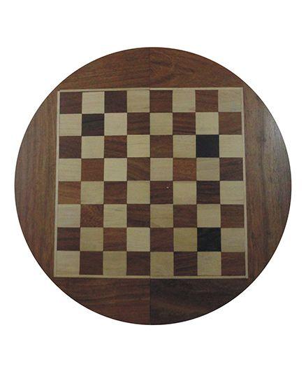 Wasan Chopra Chess Round Magnetic - Brown Cream
