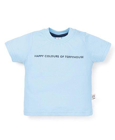 ToffyHouse Half Sleeves T-Shirt - Sky Blue