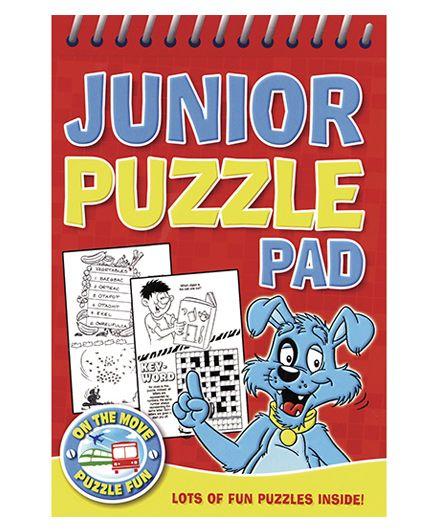 Junior Puzzle Pad Red - English