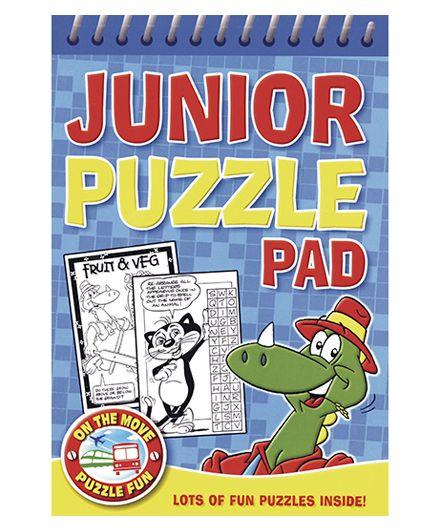 Junior Puzzle Pad Blue - English