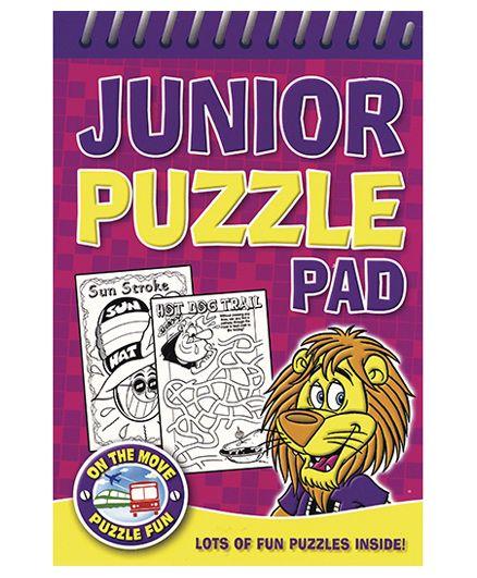 Junior Puzzle Pad Purple - English
