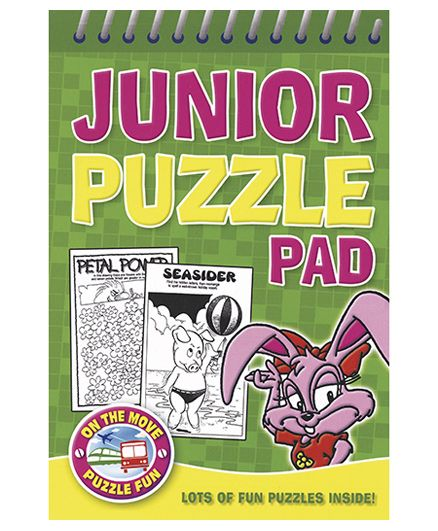 Junior Puzzle Pad Green - English
