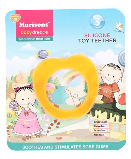 Morisons Baby Dreams Silicone Toy Teether - Orange