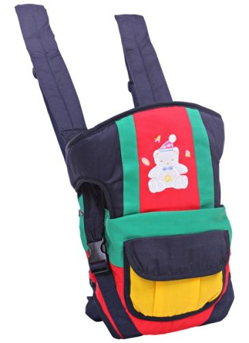Fab N Funky 3 Way Baby Carrier With Bear Print - Red N Blue