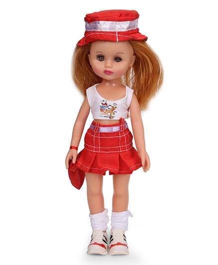 Speedage Anna Doll Red And White - 12 Inches