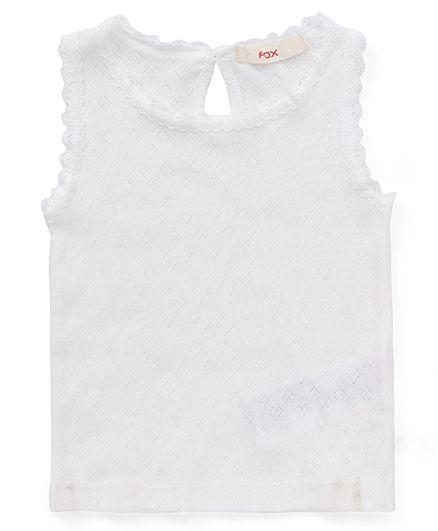 Fox Baby Sleeveless Top - Off White