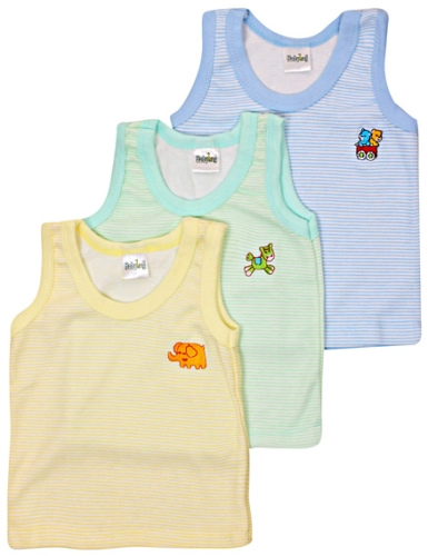 Babyhug Colourful Striped Vests