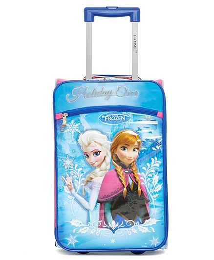 Disney Gamme Frozen Soft Trolley Bag Blue - 17.5 Inch