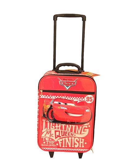 Disney Gamme Cars Soft Trolley Bag Red - 17.5 Inch