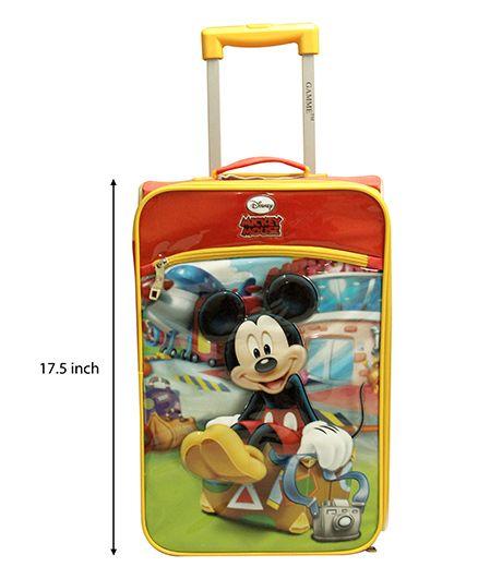 Disney Gamme Mickey Soft Trolley Bag Yellow - 17.5 Inch