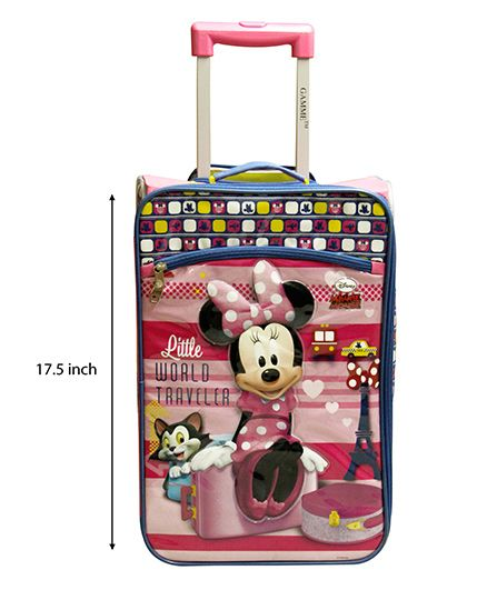 Disney Gamme Minni Mouse Soft Trolley Bag Pink - 17.5 Inch