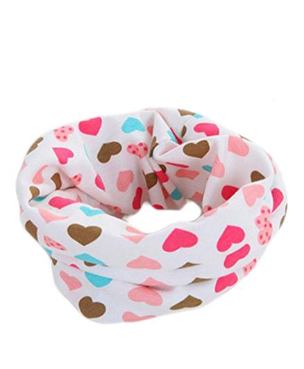 Bellazaara Autumn Winter O-Ring Hearts Infinity Neck Scarves - Multicolour