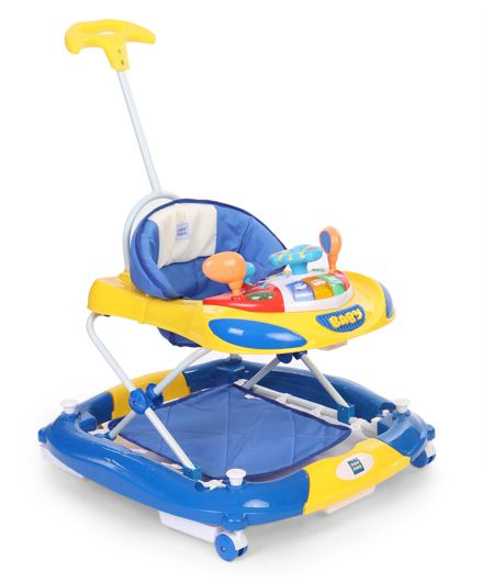 Mee Mee Super Safe Musical Walker N Rocker - Blue And Yellow