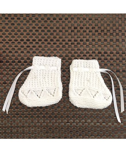 Buttercup From KnittingNani Patterned Socks - White