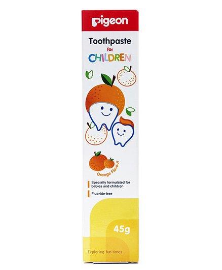 Pigeon Orange Flavoured Children Toothpaste - 45 gm