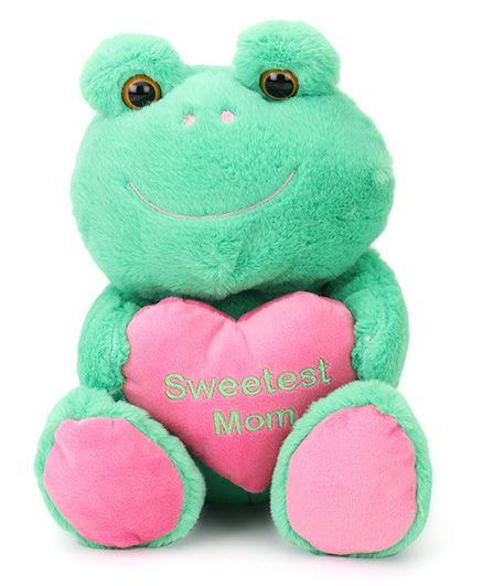 Starwalk Plush Frog Soft Toy Pink Green - 23 cm