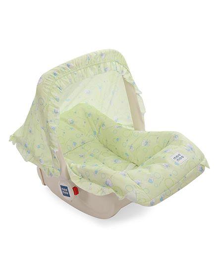 Mee Mee 5 In 1 Baby Cozy Carry Cot Cum Rocker - Green