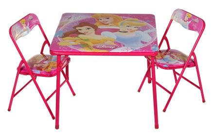 table chair set disney princess 4 years 3 pieces activity table