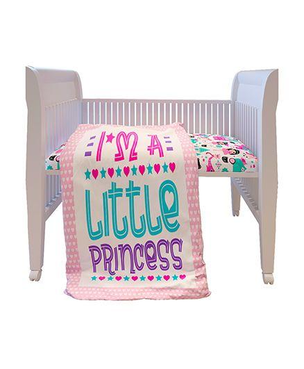 Fancy Fluff Premium Digitally Printed Comforter Princess Theme - Pink