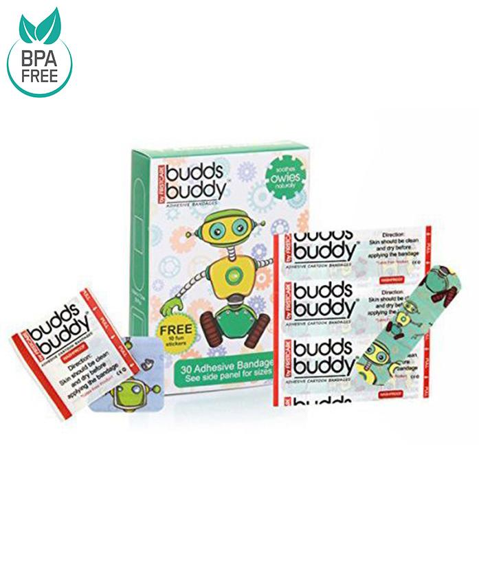 Buddsbuddy Adhesive Bandages Green - 30 Pieces