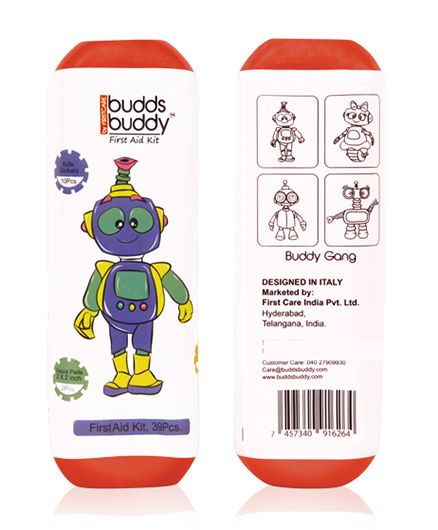 Buddsbuddy 39 Pieces First Aid Kit - Red