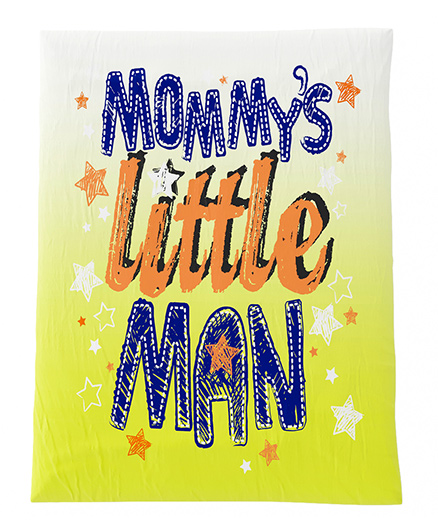 Fancy Fluff Premium Digitally Printed Comforter Little Man Theme - Yellow & Blue