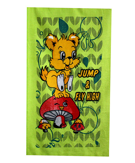 Sassoon Towel Animal Design - Green Yellow Red