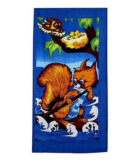 Sassoon Towel Squirrel Design - Blue