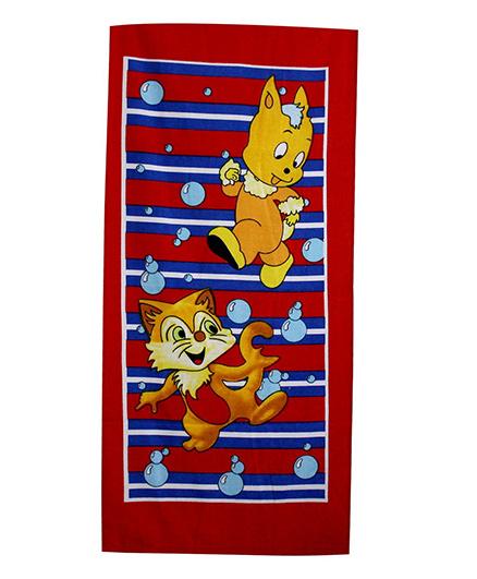 Sassoon Towel Cat Design - Multicolour