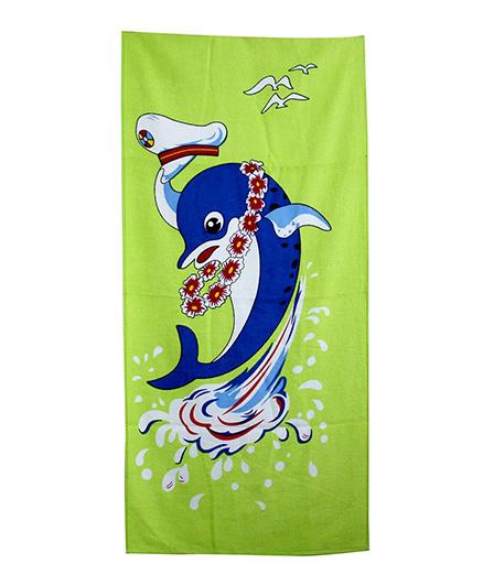 Sassoon Towel Dolphin Design - Blue Green