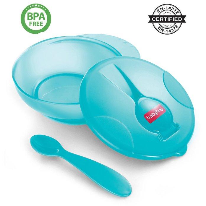 Babyhug Feeding Bowl With Spoon - Blue