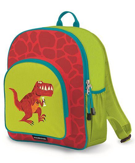 Crocodile Creek Backpack Dino Print Blue Red - 14 inches